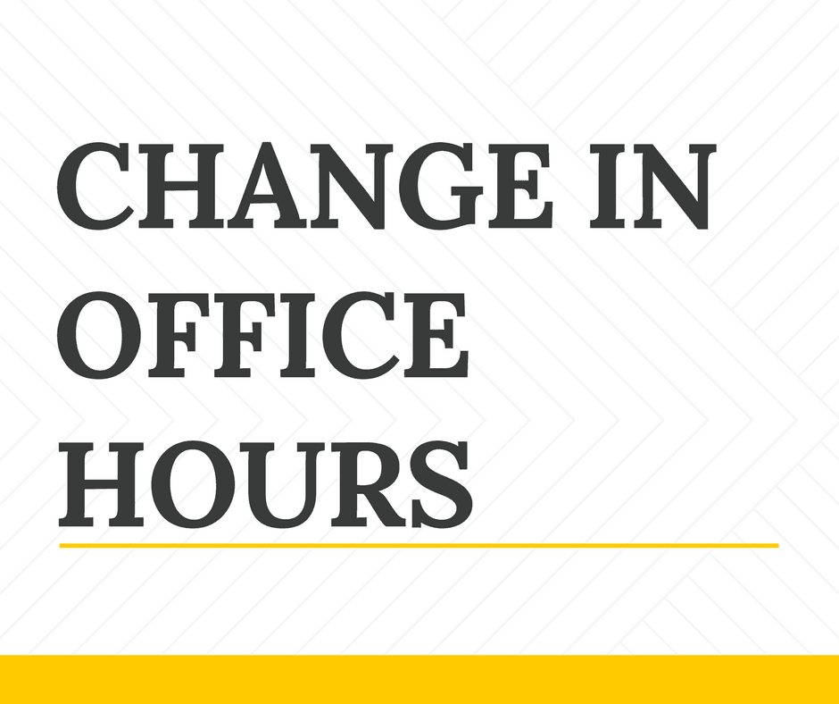 Change in Office Hours (1)